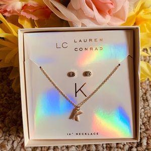 "Lauren Conrad 16"" ""K"" Necklace Set"
